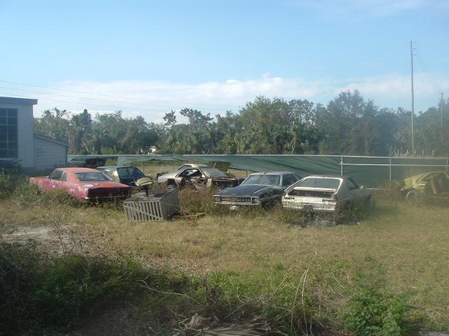 of Warehouse, Rattlesnake row, 70 Javelin, 68 AMX, 74 Hornet, 78 AMX
