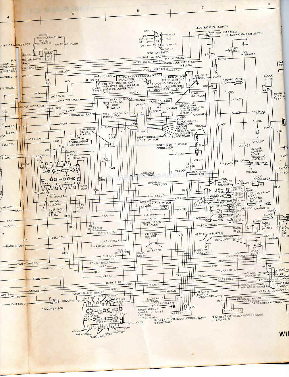 74 javelin wiring harness 2 troubleshooting AMC Ambassador at creativeand.co