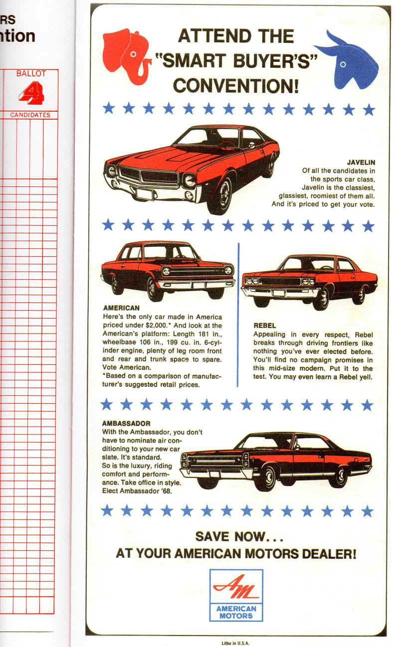 amc manuals brochures rh planethoustonamx com AMC Hornet AMC Javelin