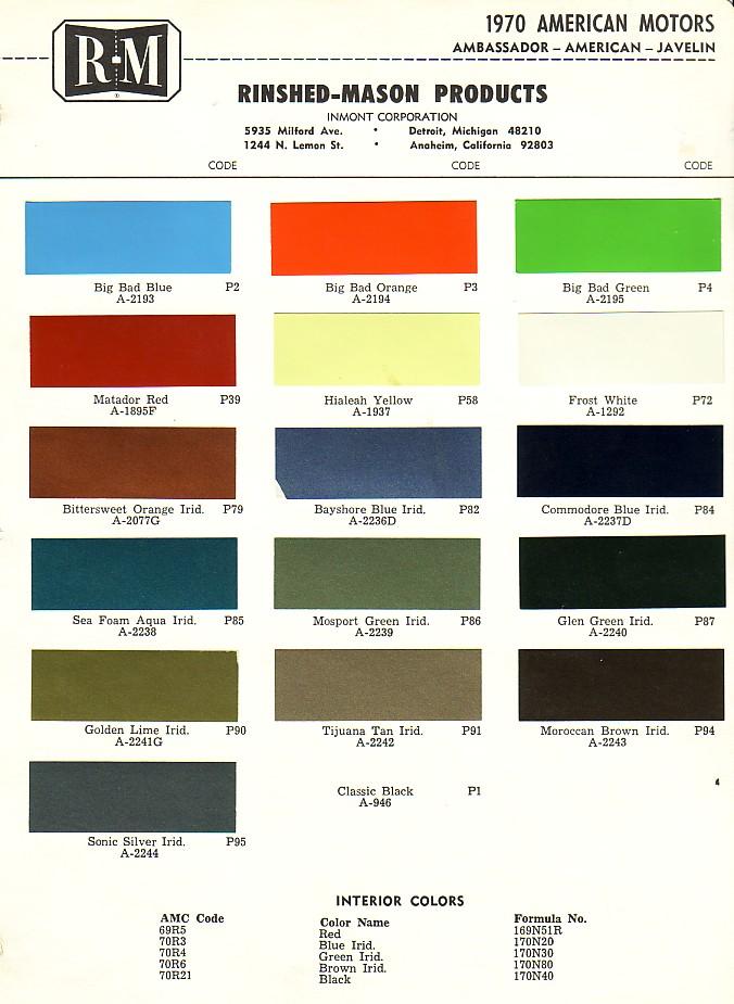 1988 Dupont Imron Paint Colors Chart Html Autos Post