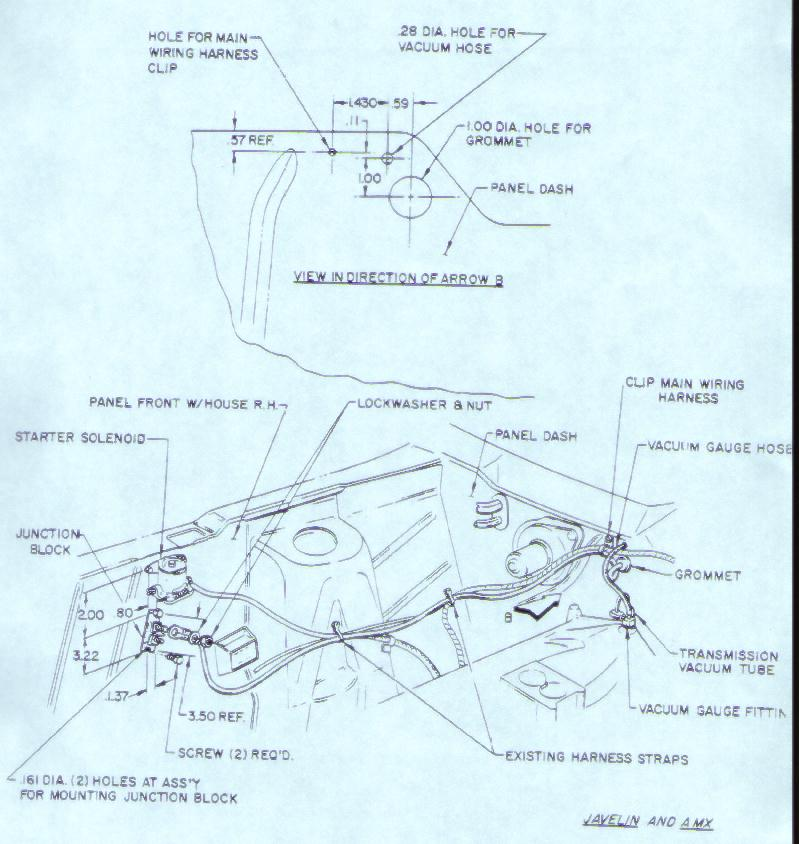 Dash For 1973 Amc Hornet Matador And Gremlincar Wiring Diagram