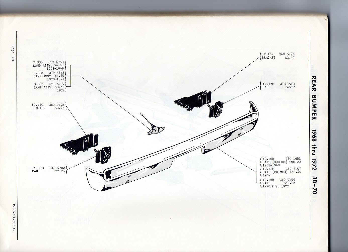 Amc Hornet Tail Light Wiring Diagram Trusted 360 Restore Your Amx Javelin Henry J Rear Bumper 141097